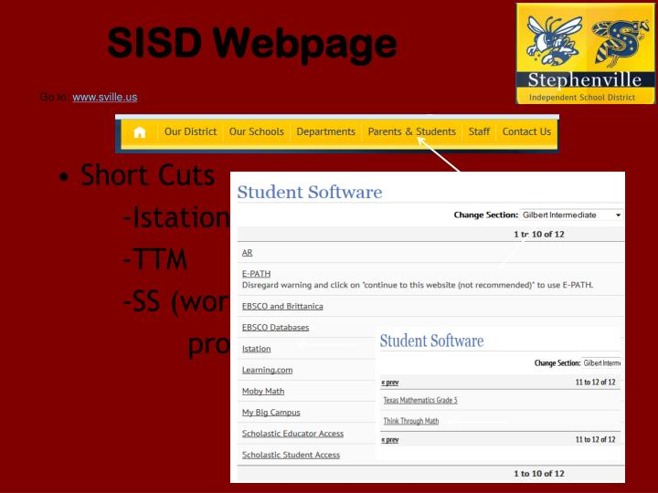 SISD Webpage