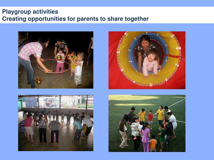 Playgroup activities