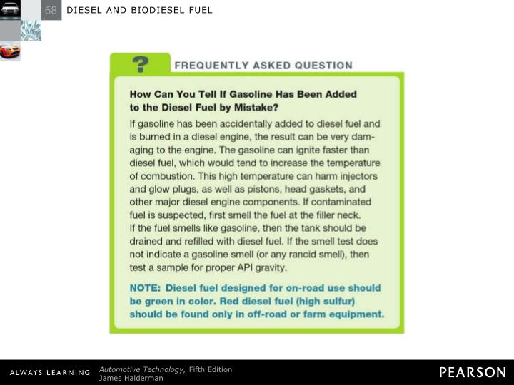 FREQUENTLY ASKED QUESTION: How Can You Tell If Gasoline Has Been Added to the Diesel Fuel by Mistake?