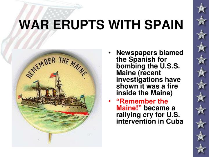 WAR ERUPTS WITH SPAIN