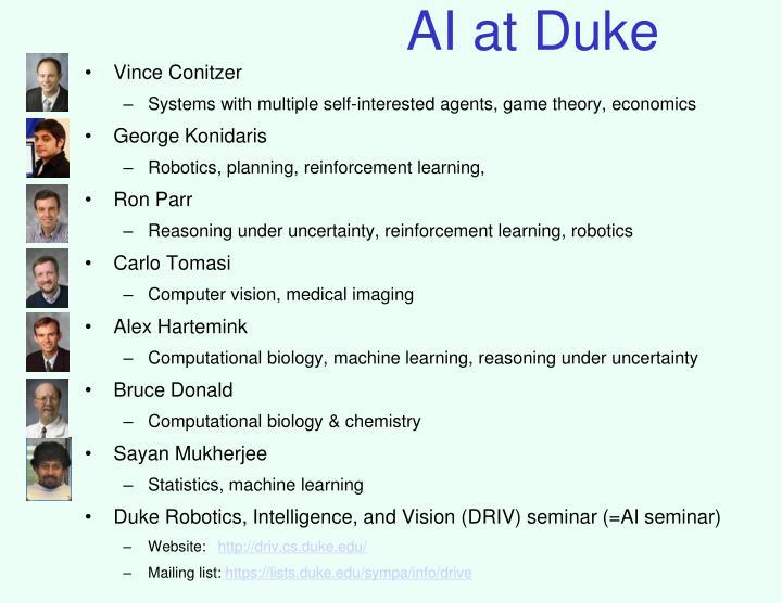 AI at Duke