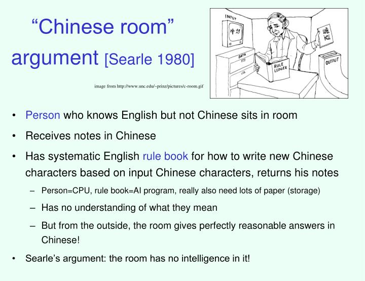 """Chinese room"" argument"