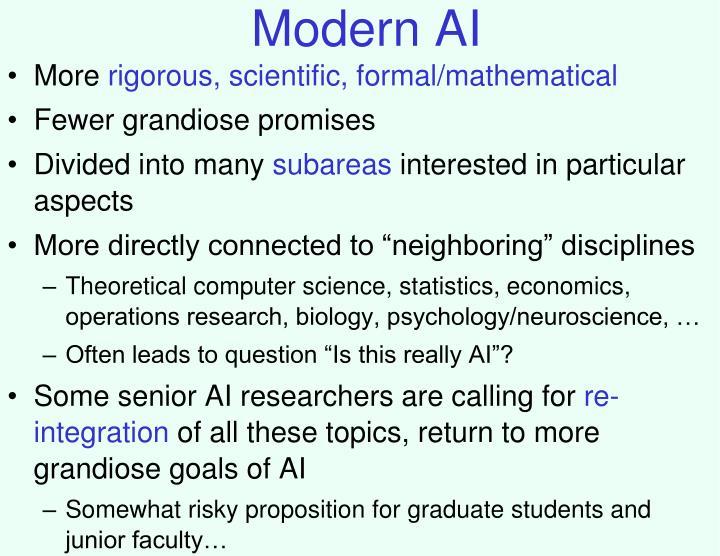 Modern AI