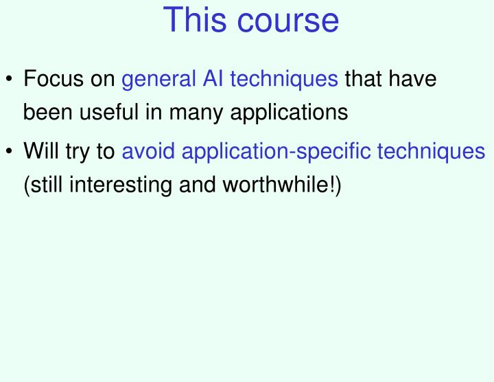This course