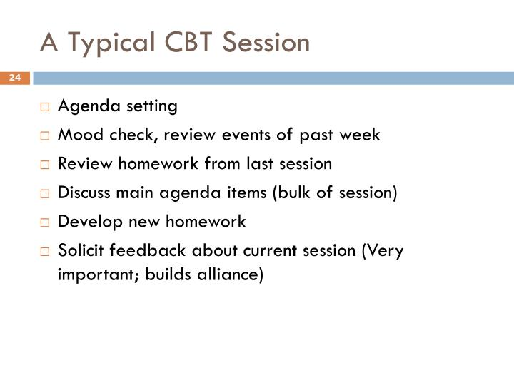 A Typical CBT Session