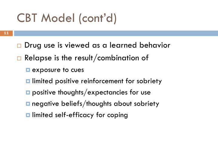 CBT Model (cont'd)