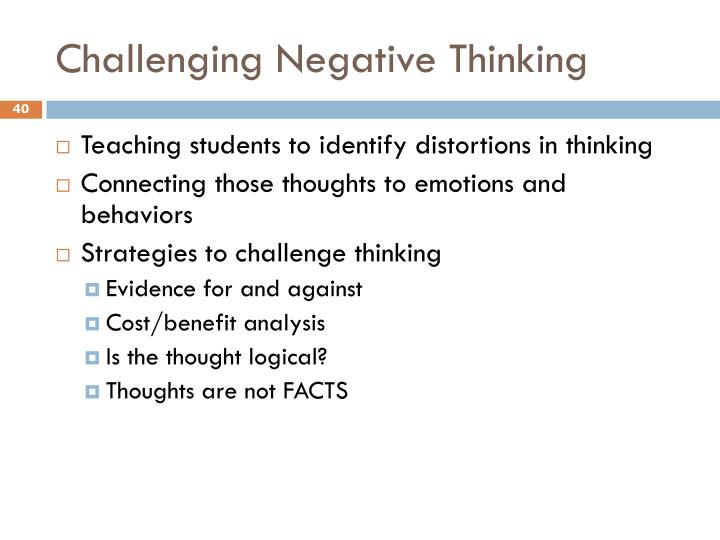 Challenging Negative Thinking