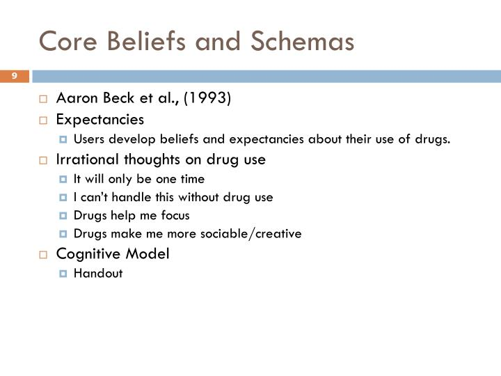 Core Beliefs and Schemas