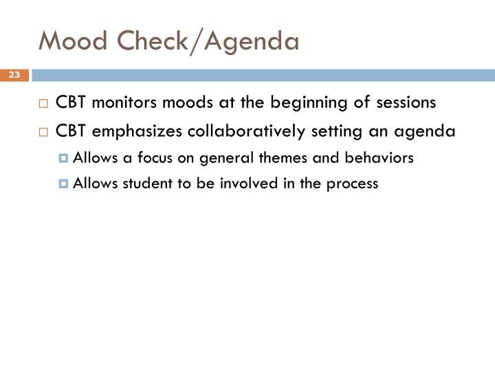 Mood Check/Agenda