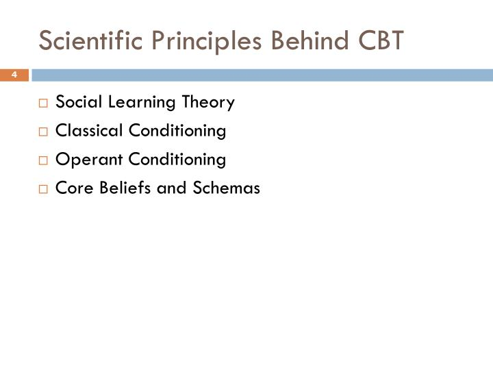 Scientific Principles Behind CBT