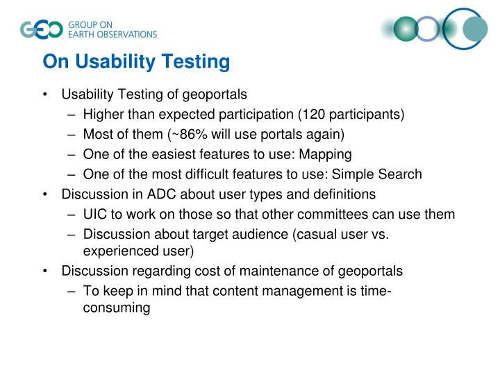 On Usability Testing