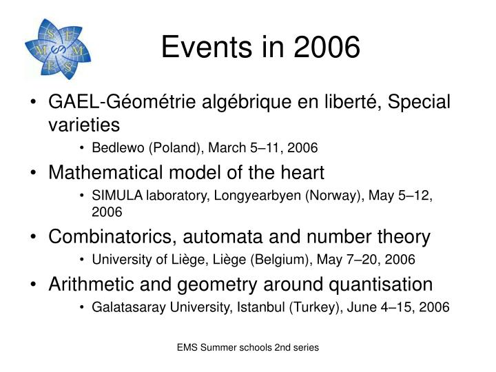 Events in 2006