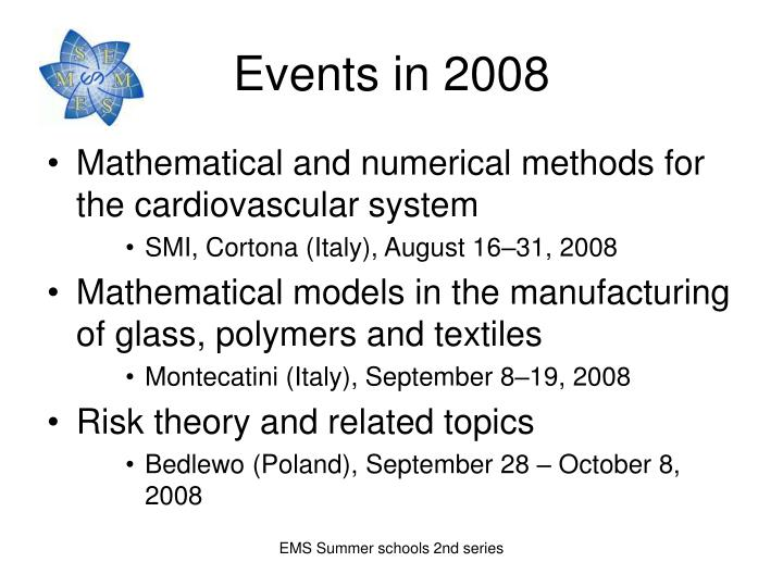 Events in 2008