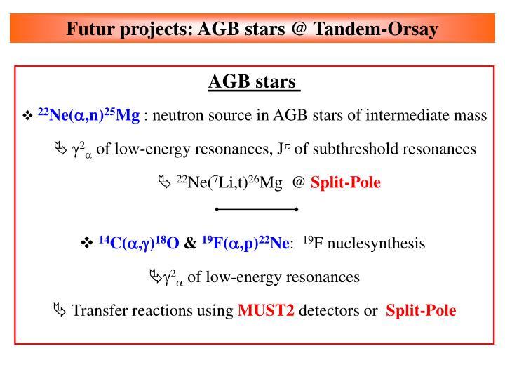 Futur projects: AGB stars @ Tandem-Orsay