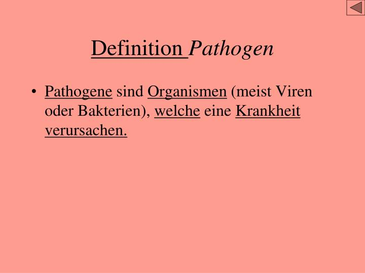 Definition pathogen