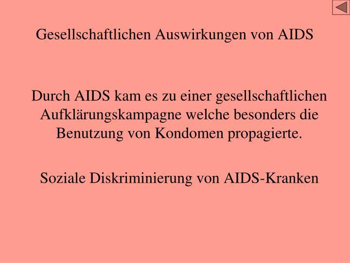 Gesellschaftlichen Auswirkungen von AIDS