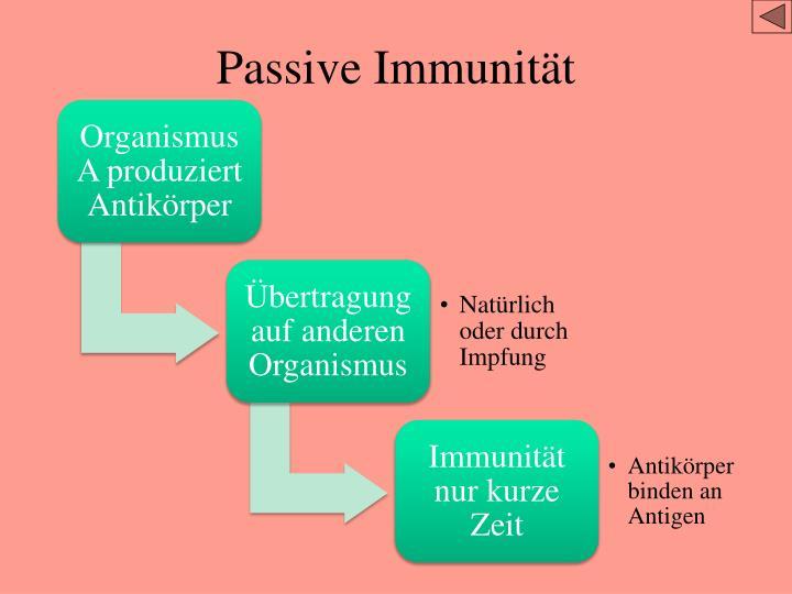 Passive Immunität