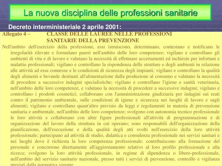 La nuova disciplina delle professioni sanitarie
