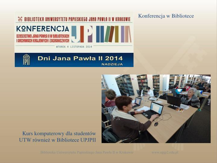 Konferencja w Bibliotece