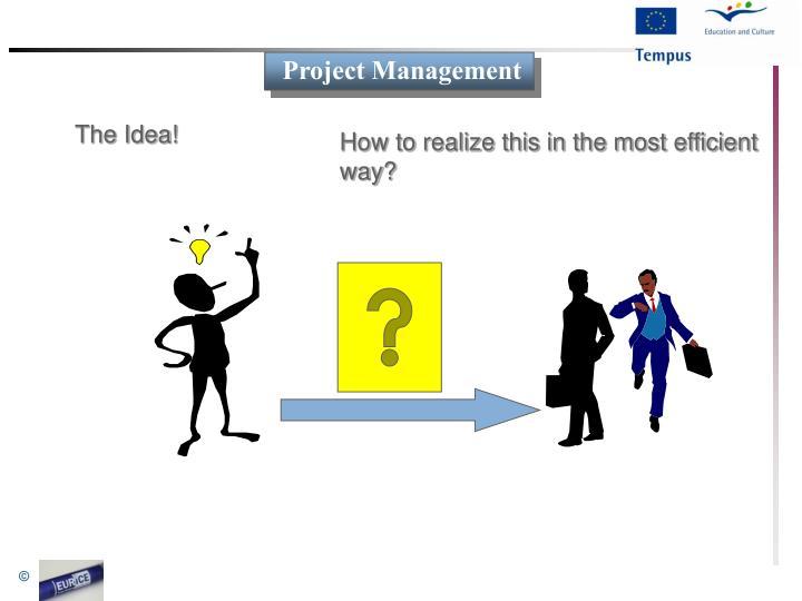 The Idea!