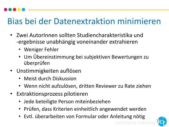 Bias bei der Datenextraktion minimieren