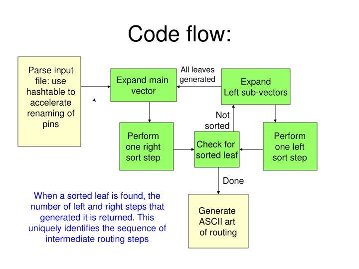 Code flow:
