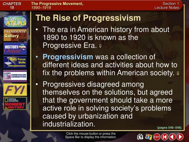 The Rise of Progressivism