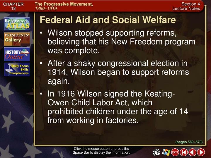 Federal Aid and Social Welfare