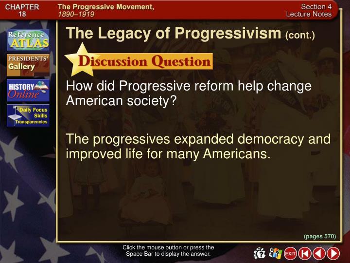 The Legacy of Progressivism