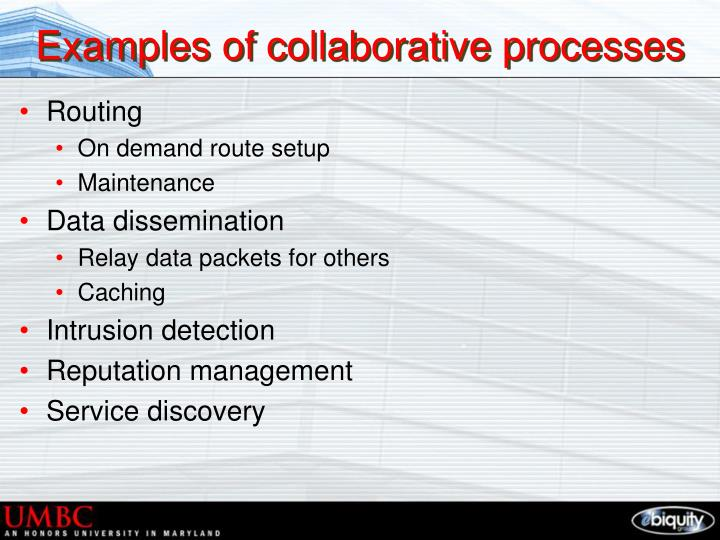 Examples of collaborative processes