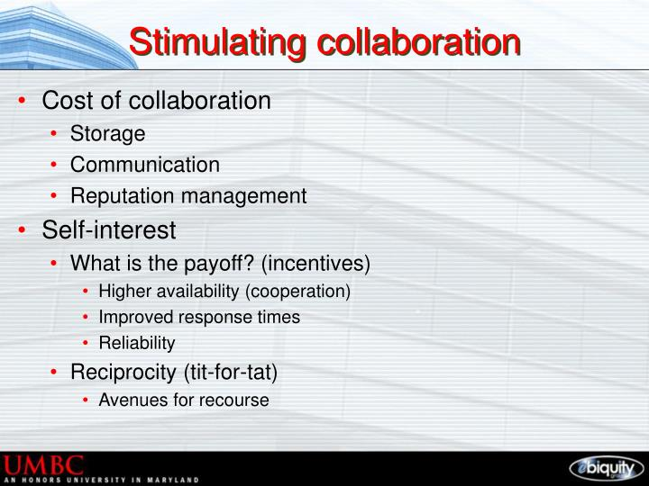 Stimulating collaboration