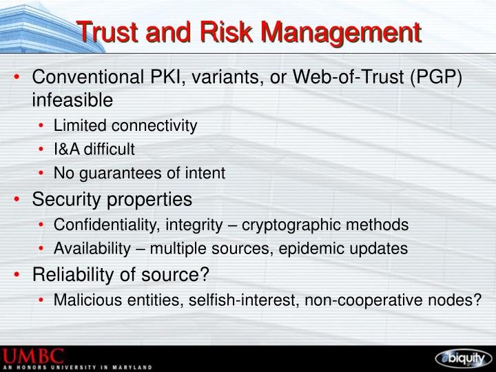 Trust and Risk Management