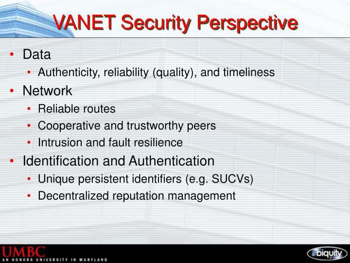 VANET Security Perspective