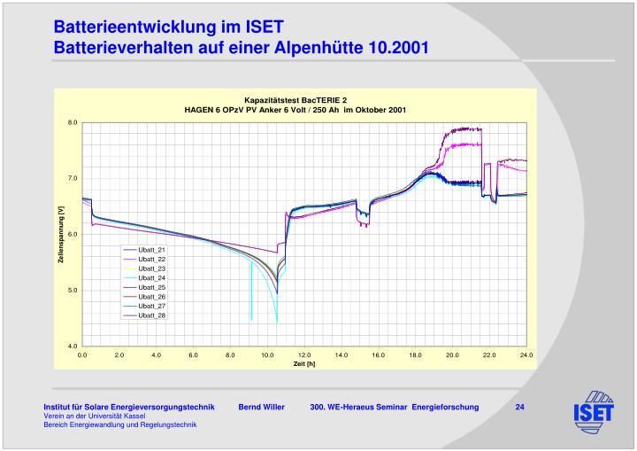 Batterieentwicklung im ISET