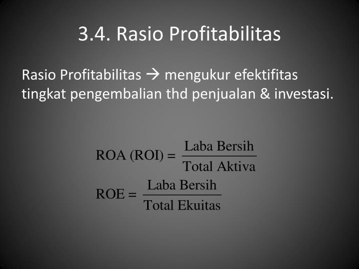 3.4. Rasio Profitabilitas