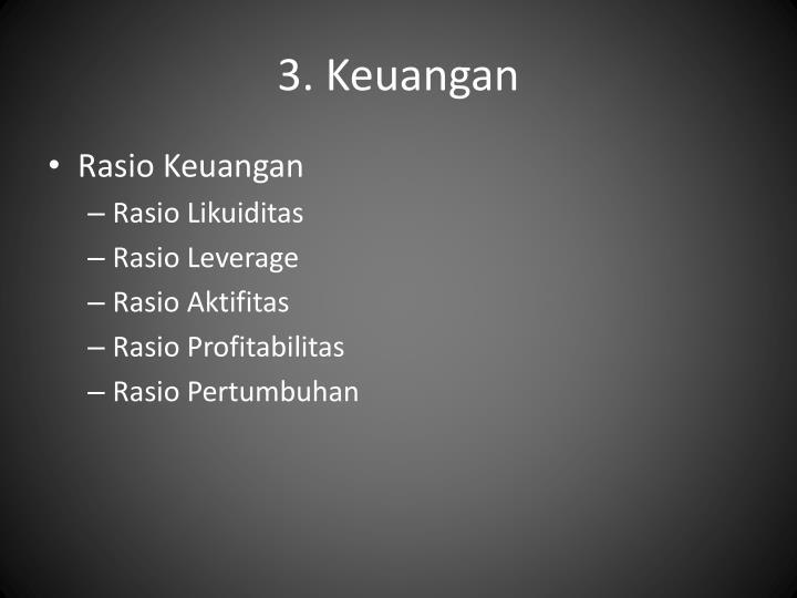 3. Keuangan
