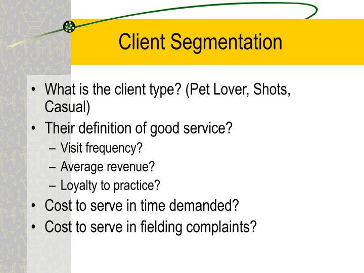 Client Segmentation