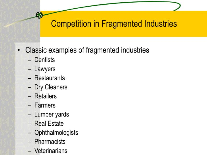 Competition in Fragmented Industries