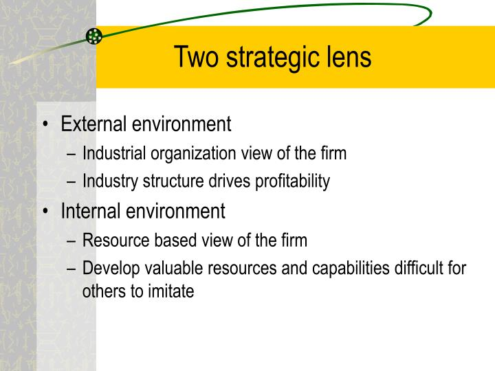 Two strategic lens