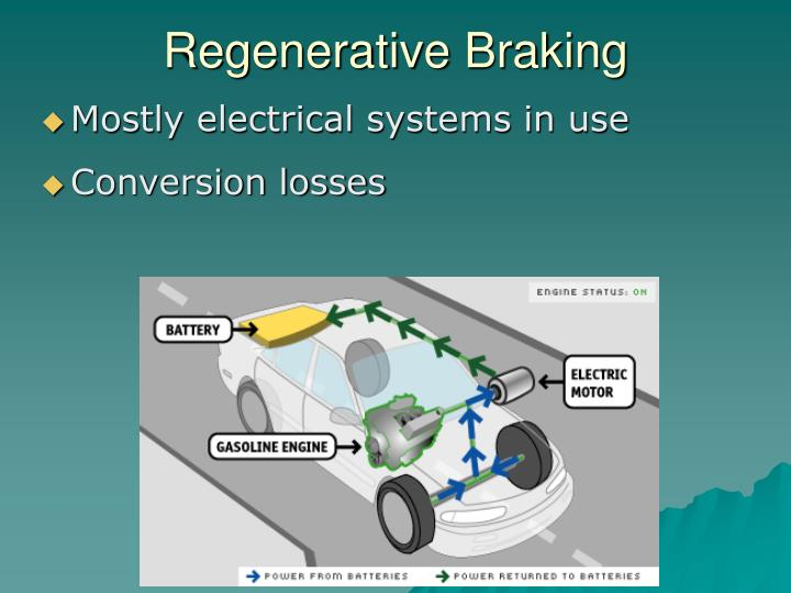 regenerative braking system It contains many comments and insights about how the regenerative braking  system works, so it seemed natural to reach out to him for more.