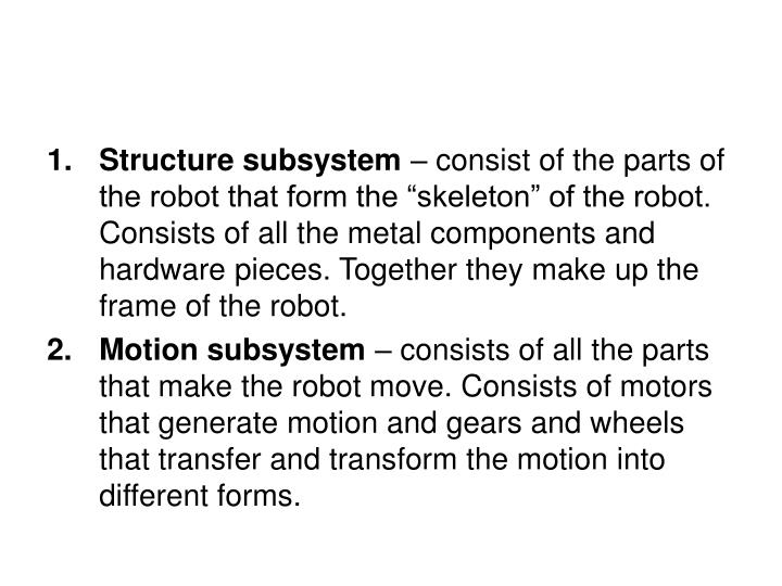 Structure subsystem