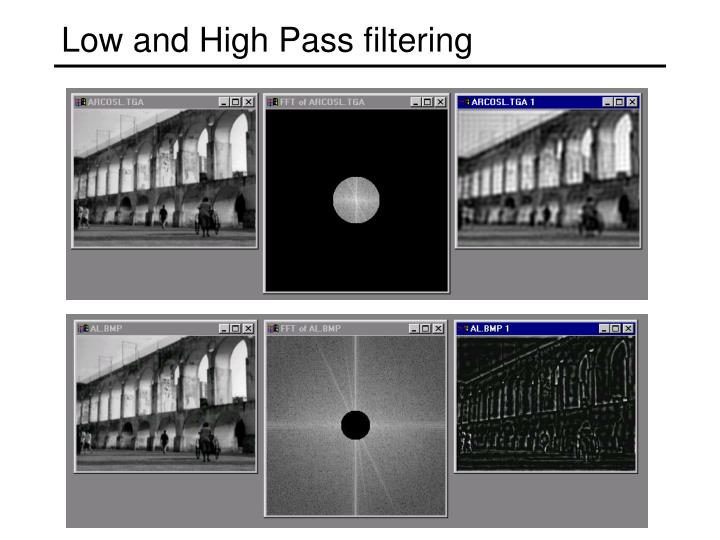 Low and High Pass filtering