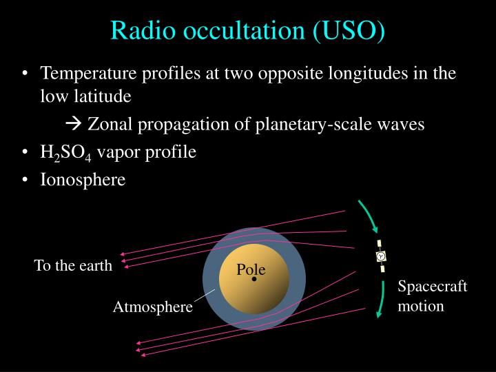 Radio occultation (USO)