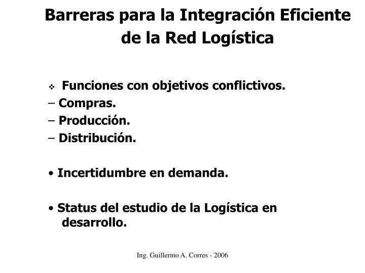 Barreras para la Integración Eficiente de la Red Logística