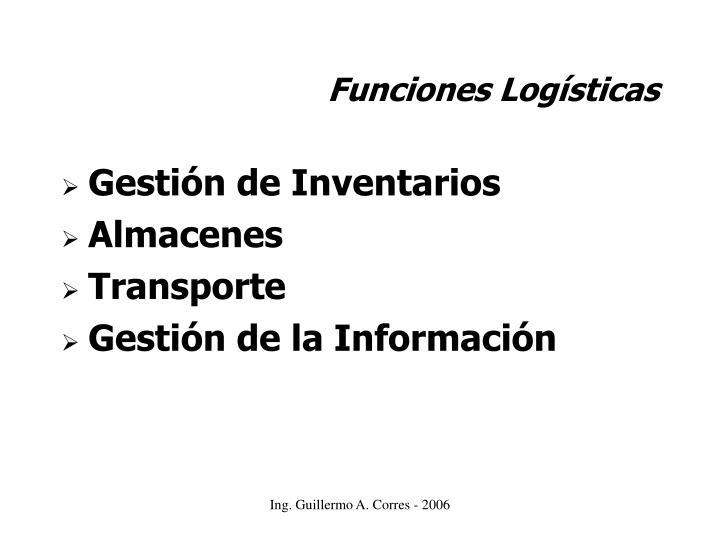 Funciones Logísticas