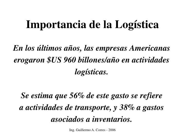 Importancia de la Logística