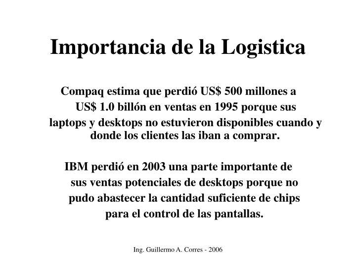 Importancia de la Logistica