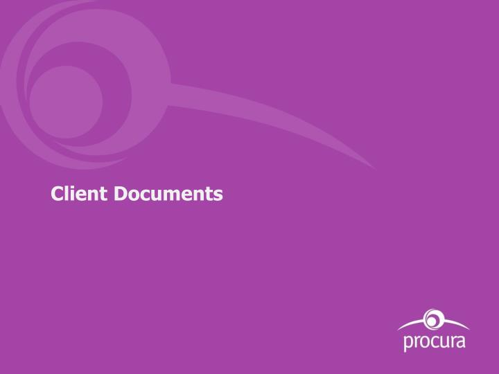 Client Documents