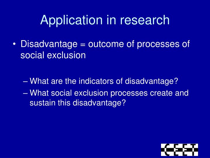 Application in research