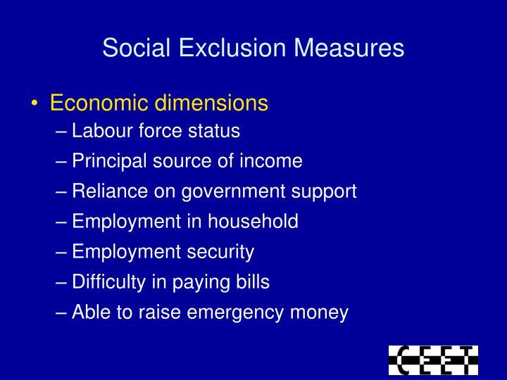 Social Exclusion Measures